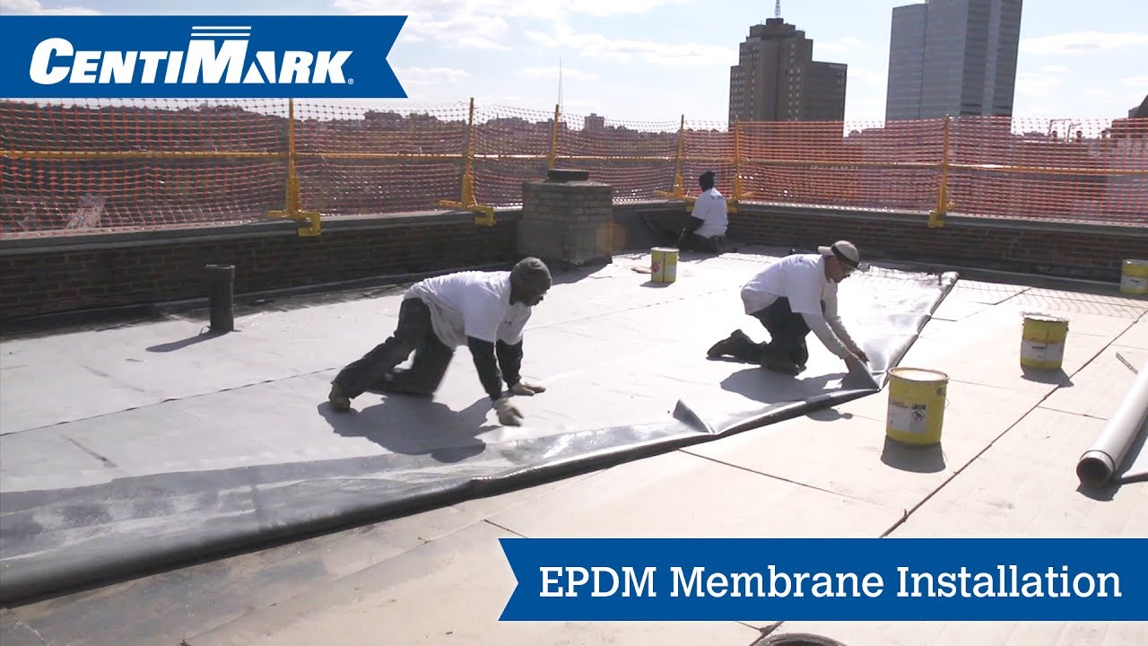 Epdm Roof System Installation Video Epdm Membrane