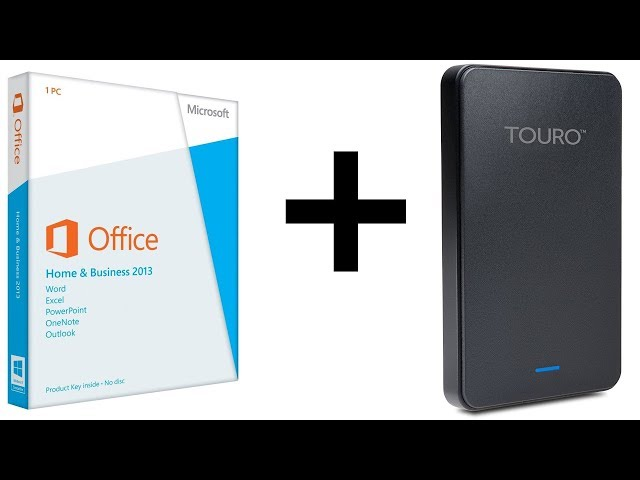Microsoft Office Home and Business 2013 + HDD Extern Hitachi Touro Mobile