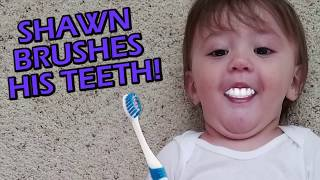 FUNnel Vision SHAWN'S 1st STEPS + Won't Go To Sleep + Brushing Teeth!! (FUNnel Vision Vlog)