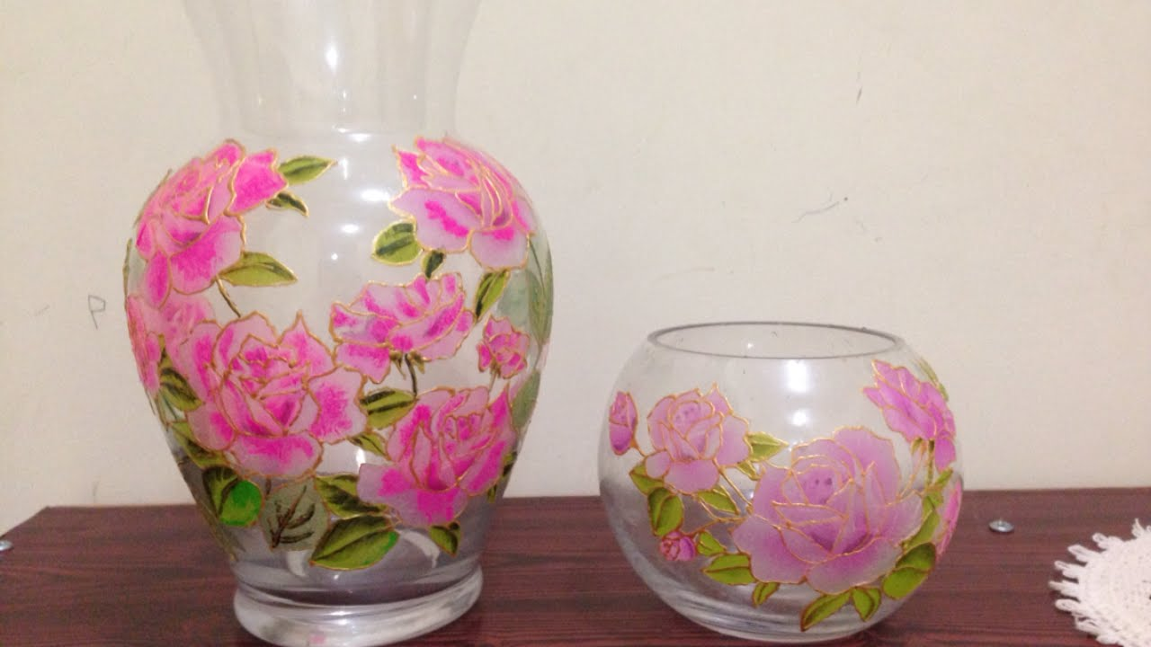 How To Create a Pretty Floral Decorated Vase