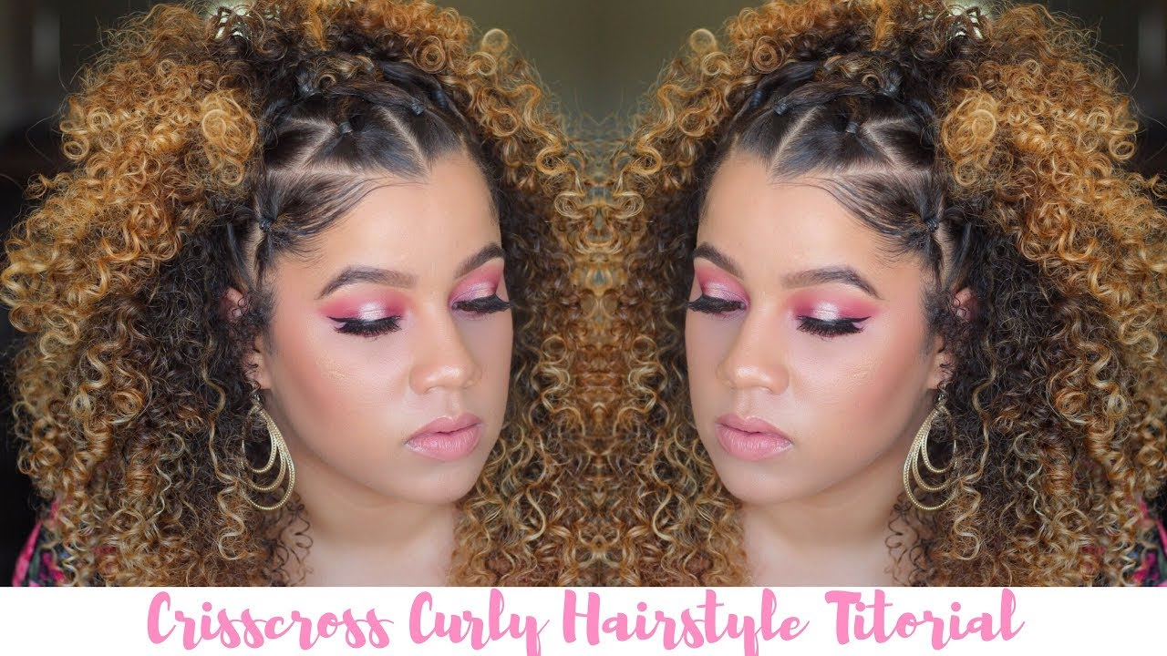 How To Curly Hairstyle Tutorial X Crisscross Rubber Band Style Wanda Mulzac