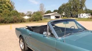 1966 ford mustang convertible light blue for sale @ www coyoteclassics com