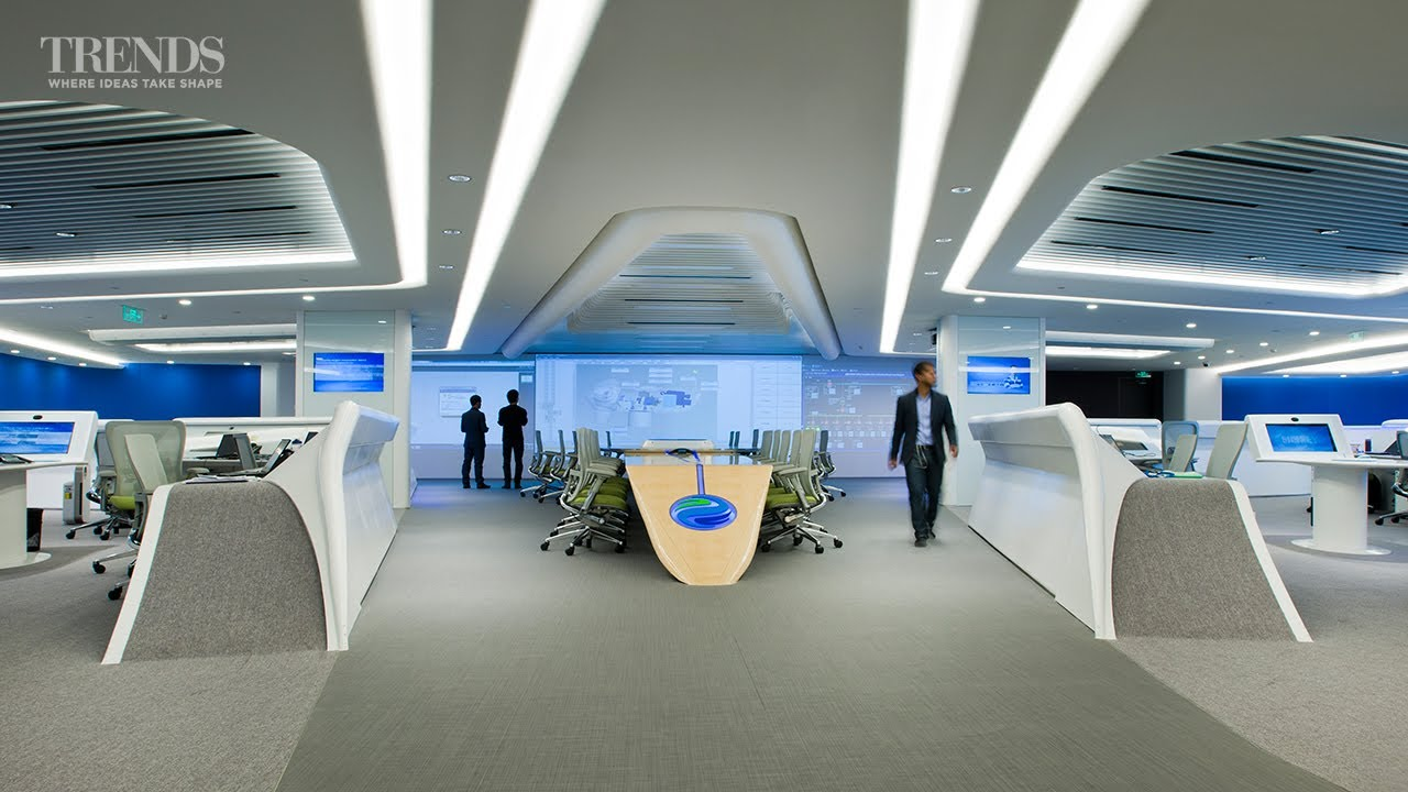 Hi tech office interiors for envision in shanghai for Bureau high tech