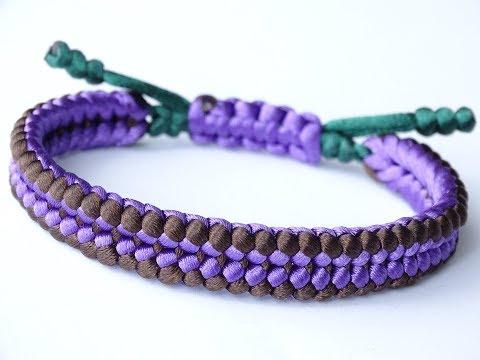 DIY Macrame Style Bracelet-Sanctified Weave/Square Knot Sliding System/Snake Knot Pull Tab-CBYS