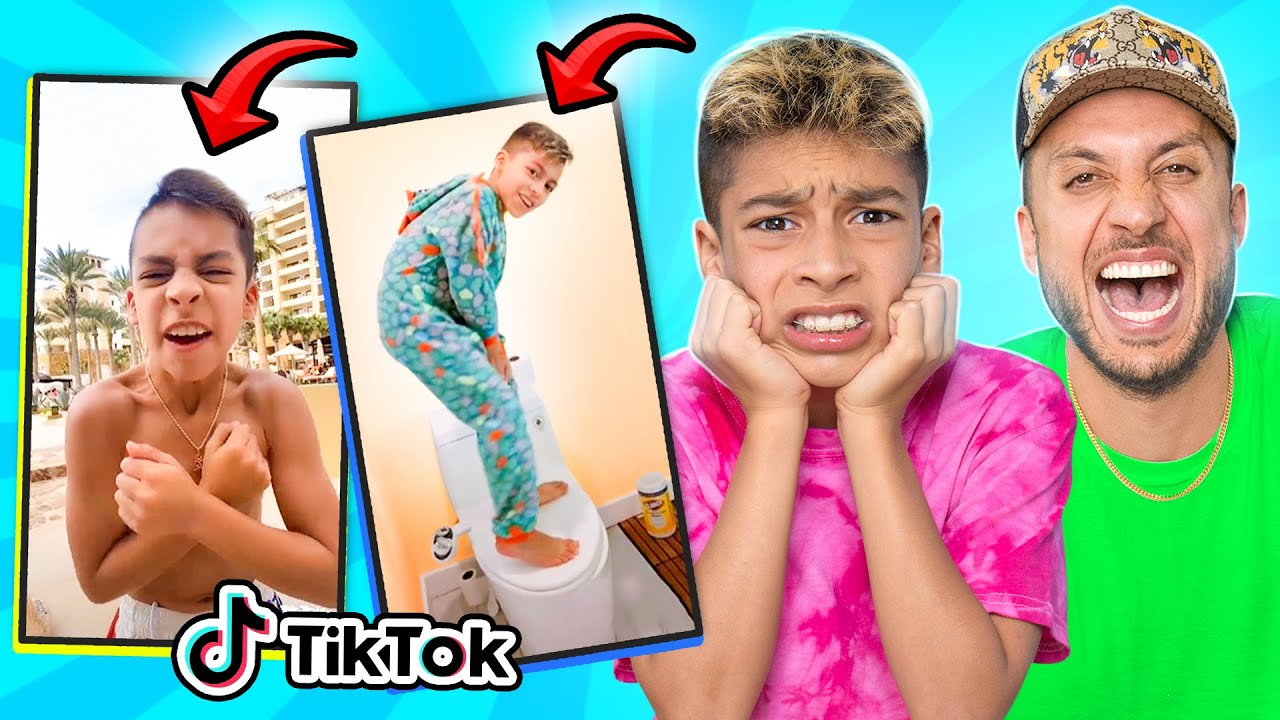 Download DAD Reacts to 11 Year old Son's CRINGE TIKTOKS!! 😂 | The Royalty Family