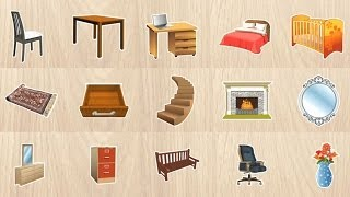 Learn Furniture Names And Pronunciations For Kids Children Toddlers