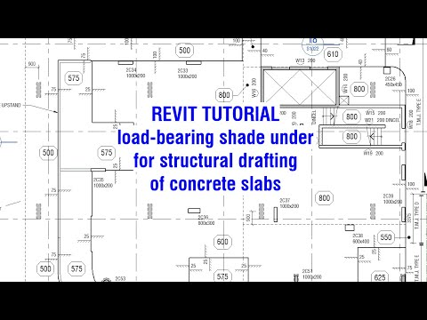 Revit Tutorial - Showing loadbearing shade hatch under for structural drafting of concrete slabs.