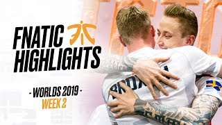 AARGHH WE F*CKING DID IT! | Fnatic Highlights (Worlds W2)