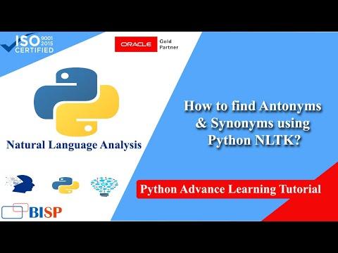 Python NLTK Synonyms And Antonyms | Python Text Mining | Python Natural Language Processing