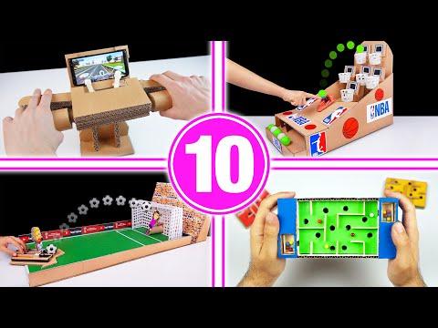 TOP 10 Amazing Cardboard Games Compilation
