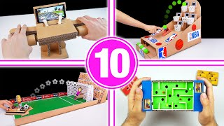 TOP 10 Amazing Cardboard Games Compilation