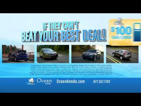 Ocean Honda Gas Card Offer | Used Car Dealer Near Monterey CA