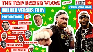 WILDER v FURY FIGHT PREDICTIONS - TOP BOXER VLOG #17 VIDEO