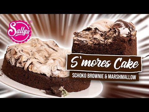 S`mores Cake- Saftiger Brownieboden Mit Marshmallow Baiserhaube