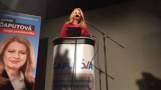 Zuzana Čaputová po víťazstve v prvom kole Prezidentských volieb 2019
