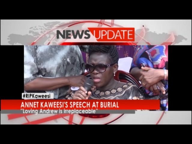 NEW VISION TV: Annet Kaweesi's speech at burial
