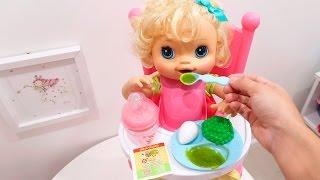 Baby Alive Comendo Mingau EATING BABY FOOD com BIA LOBO