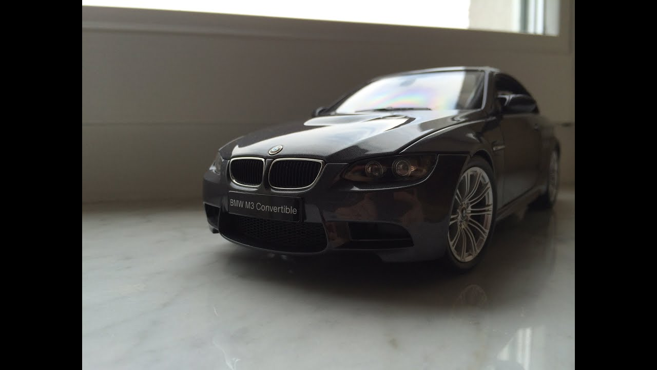 Bmw M3 Convertible >> BMW M3 [E92/E93] Convertible Kyosho 1:18 Diecast model car - YouTube