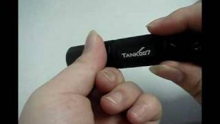 Tank007 M20 Flashlight Torch CREE Q3 140 Lumens Magnetic LED AA Black