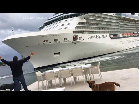 Thumbnail: Cruise ship's frightening close call with a Ft. Lauderdale home captured on video