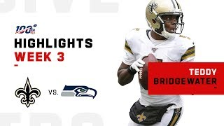 Teddy Bridgewater Week 3 Highlights vs. Seahawks | NFL 2019