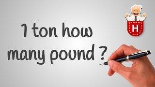 1 ton how many pound