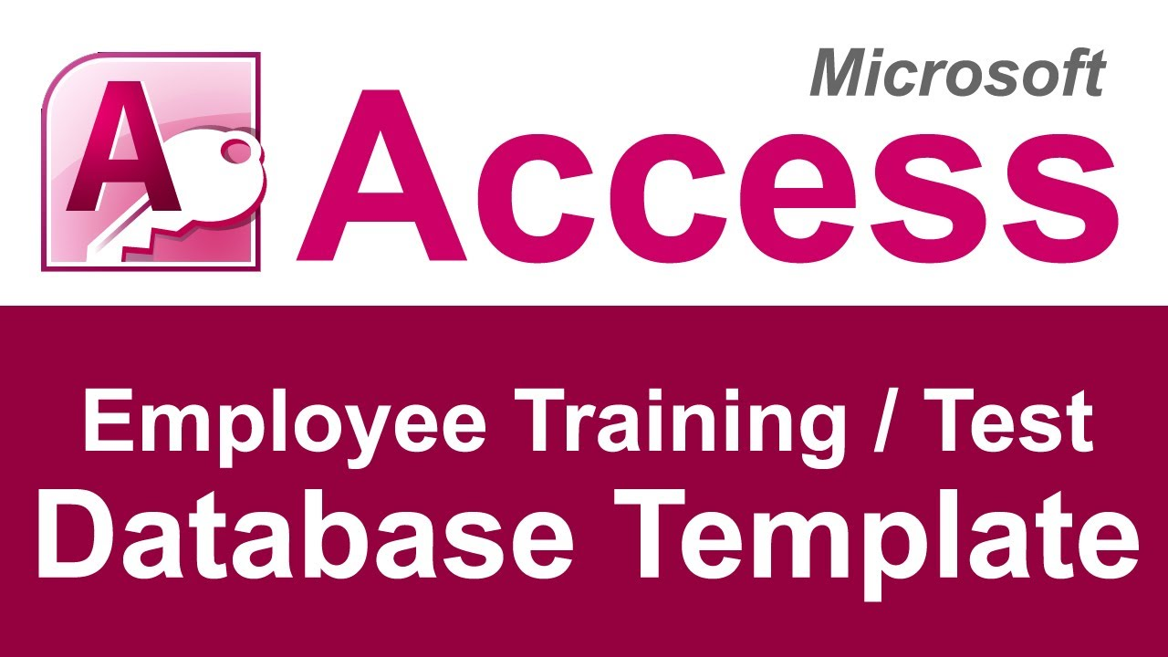 employee training and test tracking database template youtube