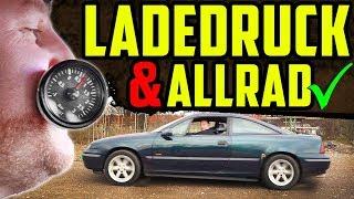 Die TECHNIK steht! - Opel Calibra 4x4 TURBO! - Probefahrt mit Ladedruck & Allrad!