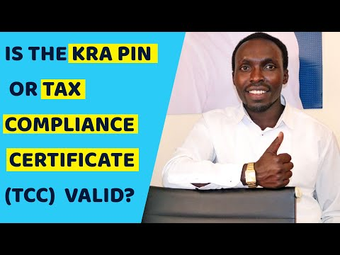 How to check if  KRA Tax Compliance Certificate and PIN is Valid