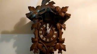 Antique Black Forest Cuckoo Clock Working