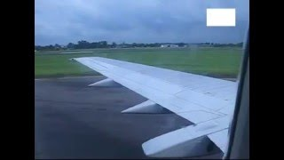 Garuda Indonesia B734  taking off at Polonia Airport - Medan