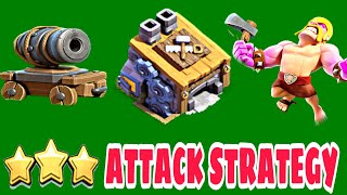 STRONGEST BH8 ATTACK STRATEGY INCLUDING CANNON CART AND RAGED BARBARIAN | CoC Bh8 Attack Strategy