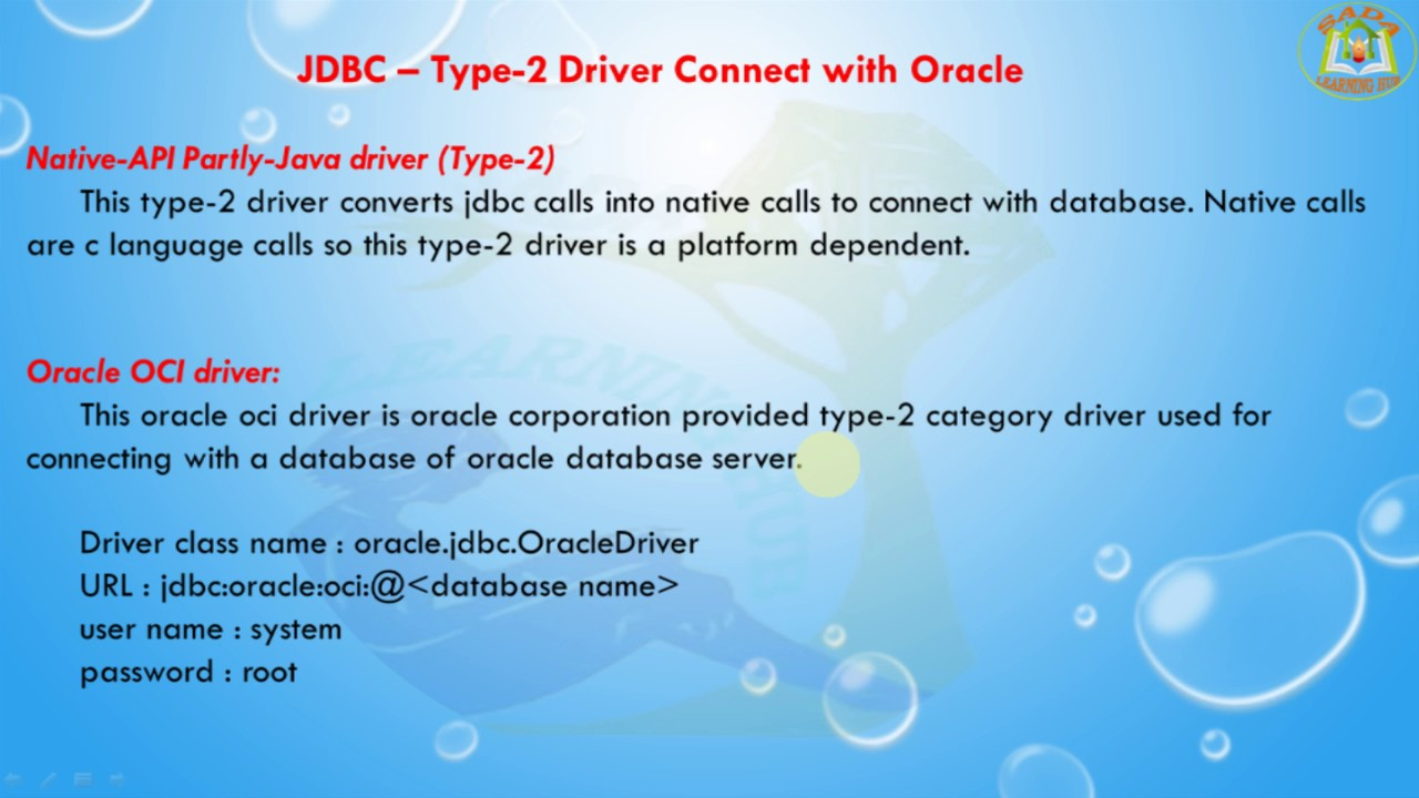 Lesson - 10 : JDBC - Type-2 Driver Connect with Oracle using JDBC