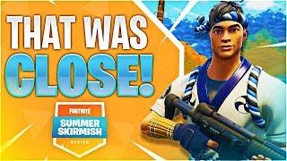 THAT WAS CLOSE! #SummerSkirmish (Fortnite Battle Royale)