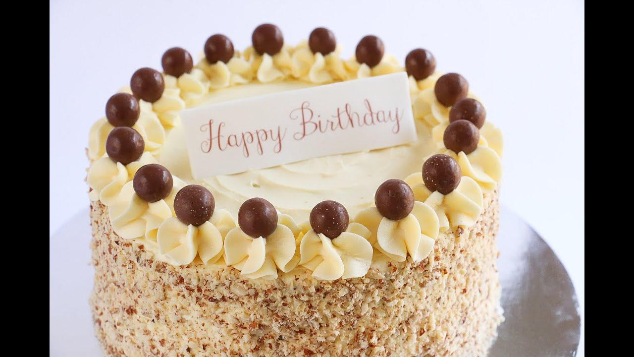 Crushed Almond Border Cake Rosies Dessert Spot Youtube