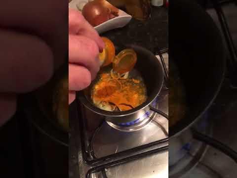 Boiled eggs in turmeric sauce
