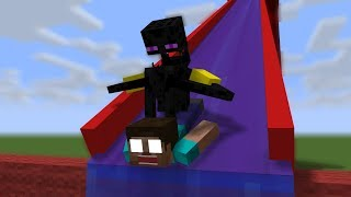 Monster School: Water Slide - Minecraft Animation