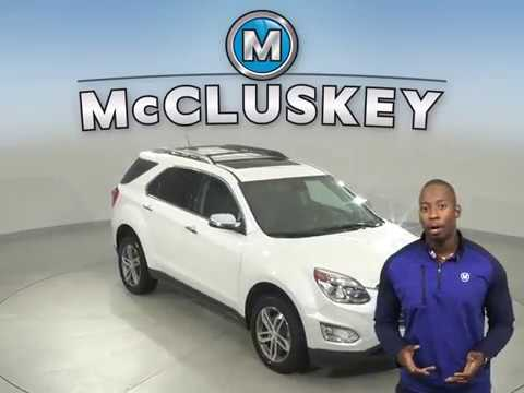 A15119YT Used 2017 Chevrolet Equinox Premier AWD White Test Drive, Review, For Sale -