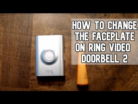 How to change the faceplate on the Ring Video Doorbell 2 DIY video | #diy  #ring
