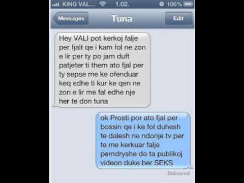 Vali Corleone publikon SMS qe i dergn Tuna (FOTO) - YouTube