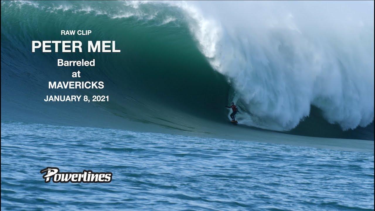 Peter Mel Barreled at MAVERICKS -JANUARY 8 2021 [RAW CLIP]