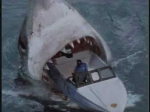 Megalodon eats boat and it's fisherman - YouTube