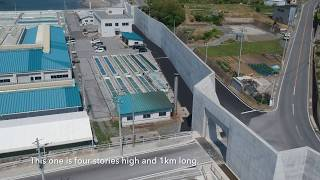 Drone footage of Japan's Sea Walls