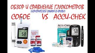 Розпакування та огляд глюкометра (вимірювача цукру) COFOE Yili і порівняння з ACCU-CHEKK
