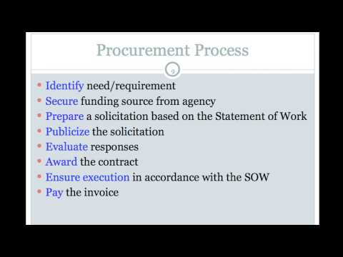 Procurement processes explained part 1