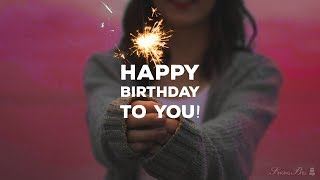 Happy Birthday to you (instrumental - lyrics video for karaoke)