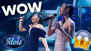 LYODRA Vs MARIA in Duet Battle of Never Enough on Indonesian Idol | Idols Global