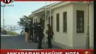 Türkiye'den Azerbaycan'a NOTA,  AKP'nin Bursada Azeri Bayrağını Çöpe Atma Krizi 21.10.09