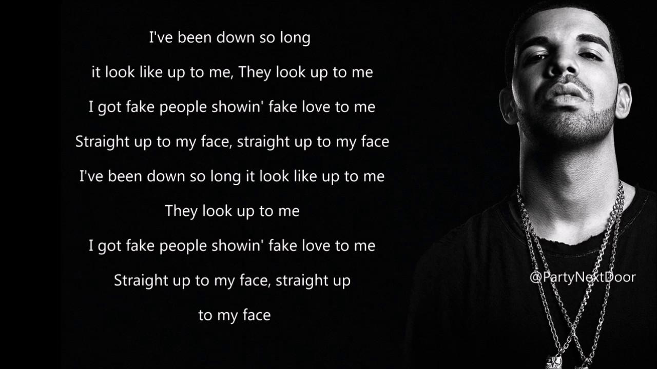 Fake Friends Quotes Wallpaper Drake Fake Love Lyrics Youtube