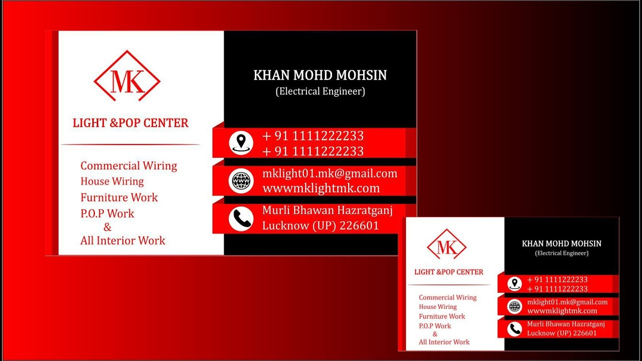 Third Design Business Card Corel Draw Tutorial X6 Youtube
